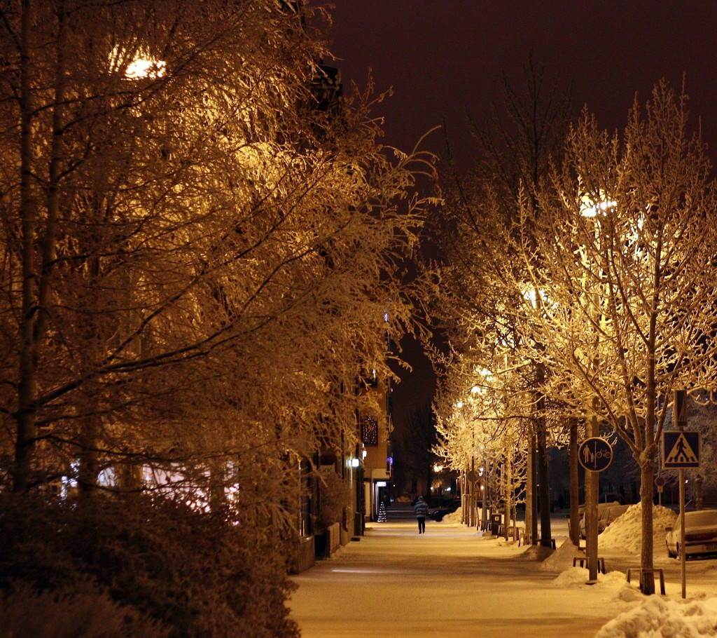 Mraz a chodnik