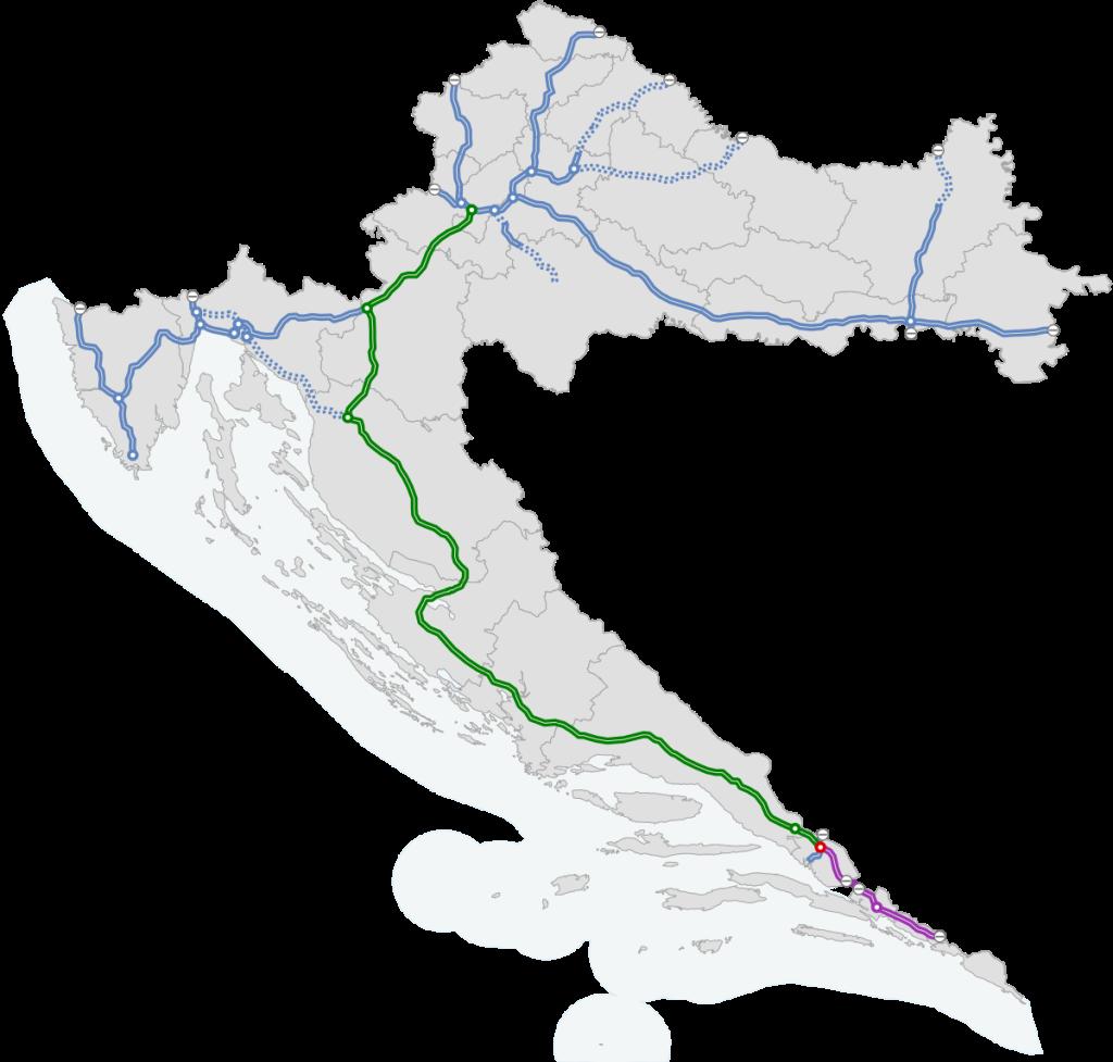 Chorvatsko - dalnice